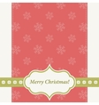 Red Christmas card with snowflakes vector image vector image