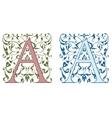 Vintage initials letter B vector image