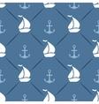 Seamless pattern of anchor sailboat shape vector image