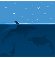 whales hunt vector image