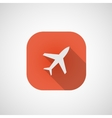 Icon Plane in the red box vector image