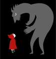 Little red riding hood and a predator vector image