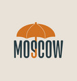 moscow word under umbrella vector image