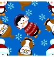 penguins seamless pattern clothes christmas vector image