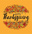 thanksgiving typography thanksgiving - hand drawn vector image