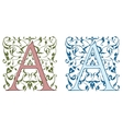 Vintage initials letter B vector image