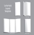 Letterfold Layout Template vector image vector image