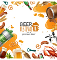 Beer Festival Template vector image vector image