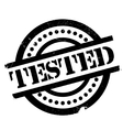 Tested rubber stamp vector image