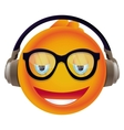 funny yellow monster with round head vector image vector image