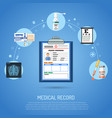 medical record concept vector image vector image