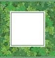 Frame with chestnut leaves vector image