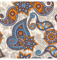 seamless hand drawn paisley pattern clipping masks vector image