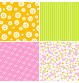 Scrapbook patterns for design vector image