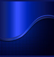 Abstract blue metal background vector image