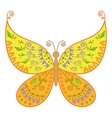 butterfly with floral pattern vector image