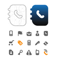 Designers icons for business vector image