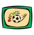 football news icon icon cartoon vector image