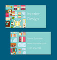 interior design business card vector image