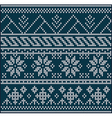 knitting pattern sweater vector image
