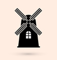 Mill design vector image