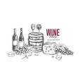 wine shop concept 1 vector image