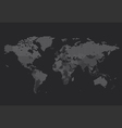 worldmap dotted country square black vector image