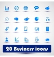 Business icon color vector image vector image