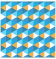 Hexagon blue with orange geometrical pattern vector image