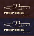 vintage retro pickup truck car vector image