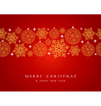Merry Christmas decorations elements border vector image