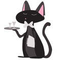 cat waiter vector image