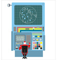 Production systems in new year Control Panel with vector image