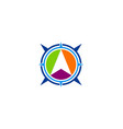 arrow navigation direction logo vector image
