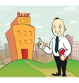 business man going to bank vector image