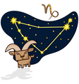 Cartoon Zodiac Capricorn with a rectangular face vector image