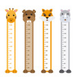 children meter wall animals vector image