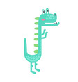 cute little dino prehistoric animal character vector image