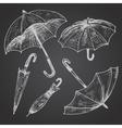 Drawing set of umbrellas vector image