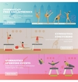 Gymnastic sport competition arena banner vector image
