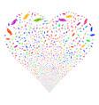 hand fireworks heart vector image