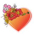 heart with flower vector image