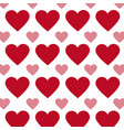 hearts seamless pattern in red and pink colors vector image