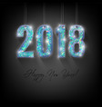 holographic new year card vector image