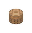 isolated colosseum isometric coliseum vector image