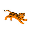 jumping tiger vector image