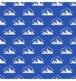 Seamless pattern with mountain and clouds vector image