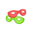 Venetian carnival mask icon cartoon style vector image