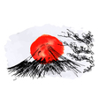 with Japan motive vector image