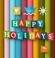 Happy Holidays Retro Happy Holidays Happy Holiday vector image vector image
